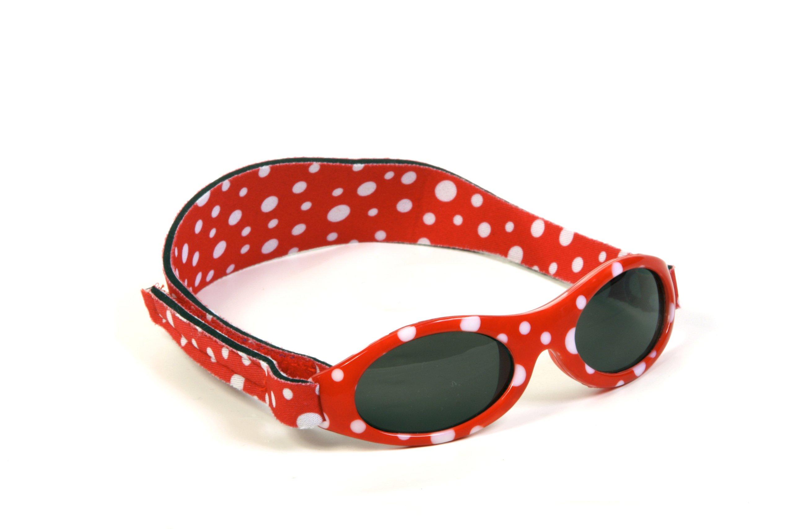 Baby Banz - Gafas de sol Ovaladas para niños, color Rojo, talla 0-2 anos 2