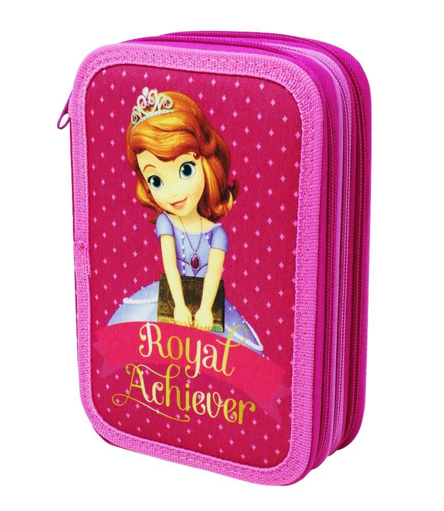 Estuche Disney Princesa Sofia para La Escuela Gran Capacidad 42 Piezas