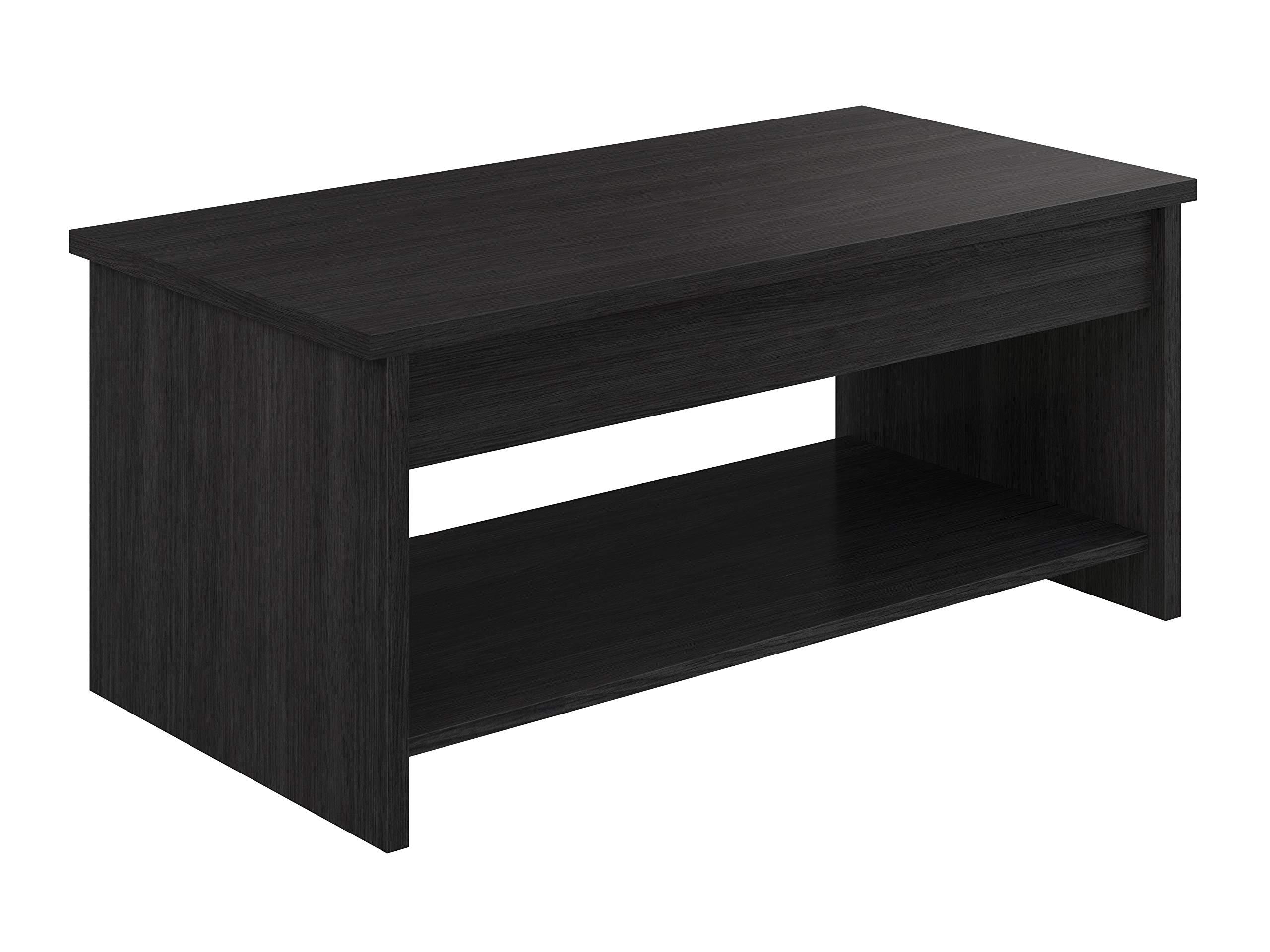 Movian Table Basse Avec Plateau Relevable Et Petite Etagere Aggol Modern 50 X 100 X 44 Gris Deco Royale