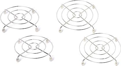 Raffles Stainless Steel Trivet/Table Ring Set, Round, Set of 4 - Small (17 cms, 2 Pcs.) & Big (23 cms, 2 Pcs.)