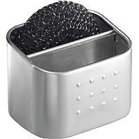 InterDesign Forma rangement évier - petit porte-éponge en acier inoxydable - argenté