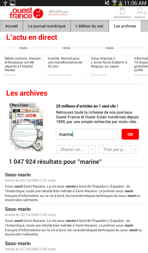 Ouest france le journal appstore pour android - Ouest france le journal gratuit ...