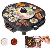 TWSOUL Gril Et Hot Pot Double Pot,Le Barbecue Thaïlandais Et Hot Pot,Barbecue Intérieur Sans Fumée-Facile à Nettoyer…