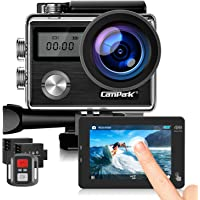 Campark Action Cam HD 20MP 4K WiFi Action Camera Touch Screen Macchina Fotografica Subacquea 40M con Custodia…