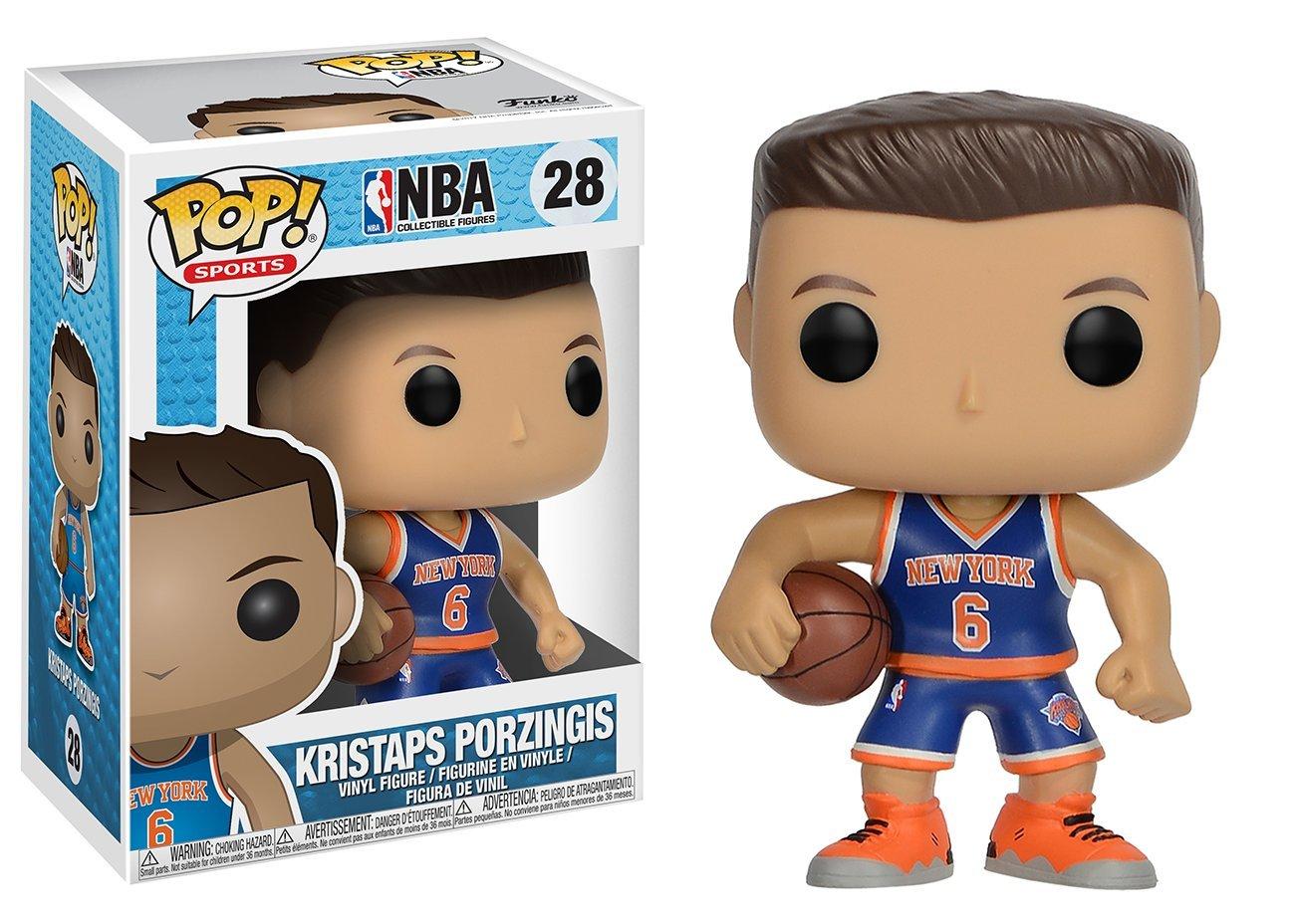 Funko Pop Kristaps Porzingis New York Knicks camiseta azul (NBA 28) Funko Pop NBA