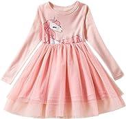 TTYAOVO Mädchen Langarm Gepunktete Prinzessin Casual Tüll Partykleid für 2-6 Jahre