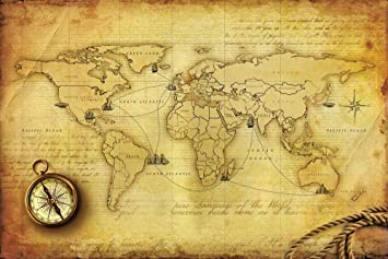 Buy old world map with compass peel and stick wallpaper in buy old world map with compass peel and stick wallpaper in different sizes 48 x 72 online at low prices in india amazon gumiabroncs Image collections