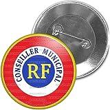 Badgmania Badge 5.9cm Epinglette Cocarde RF Conseiller Municipal
