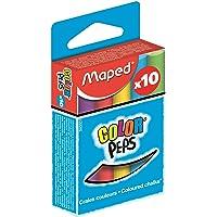 Maped m593501 – Craie Color Peps, Lot de 10, rond, assortis