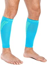 Azani Elite Calf Compression Sleeves for Men & Women, Unisex. Shin Splint Leg Sleeves. Graduated Compression for Calf Strains, Shin Splints and Varicose Veins. Aids in Injury, Recovery & Prevention - Blue