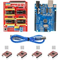 REES52 Arduino CNC Shield Contoller Kits for 3D Printer, CNC Shield Expansion Board V3.0 +UNO R3 Board + A4988 Stepper…