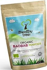 Bio Baobab-Pulver - reich an Ballaststoffen, Kalzium, Vitamin C und Antioxidantien - ideal für Haferbrei und Smoothies - reines Superfruit-Baobab-Pulver von TheHealthyTree Company