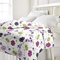 Adore u Microfiber Floral Printed Reversible Single Bed AC Blanket/Dohar for Home