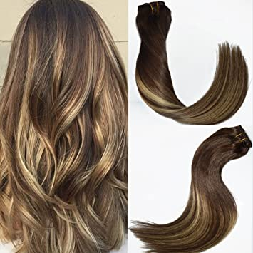120gset 7pcs 16 inch balayage clip in hair extensions blonde 120gset 7pcs 16 inch balayage clip in hair extensions blonde highlights brunette ombre color 3 dark brown fading to 24 ash blonde 16 inch brown golden pmusecretfo Image collections