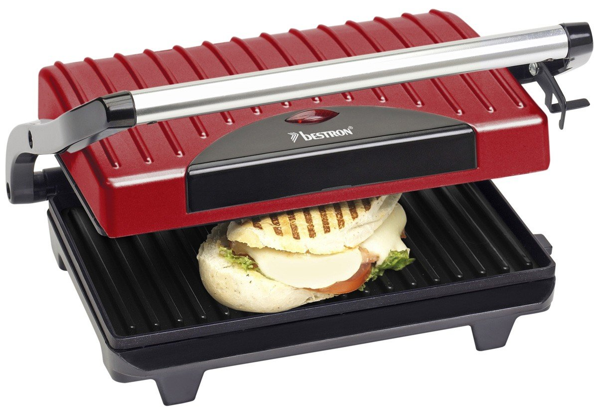 Bestron APG100R Contact grill barbecue - barbecues & grills (Red, Power)
