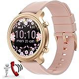 Smartwatch Mujer Reloj recibir y contestar llamadas,Fitness rastreador Reloj Deportivo Smartwatch de 1,28'' Impermeable Monit