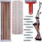 Kuman Carte Extension De Type T GPIO + 65 Jumper Wire+ 40pin De Câble Arc En Ciel + 100 Résistances K73 Pour Raspberry…