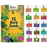 Set de semillas de hierbas Grow Buddha - Cultiva fácilmente 15 variedades de tus propias hierbas frescas con nuestra mezcla d