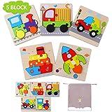 Herefun Puzzle in Legno Giocattoli Bambini 1 2 3 Anni, Giocattoli educativi Set, Montessori Educativi e Apprendimento Giocatt