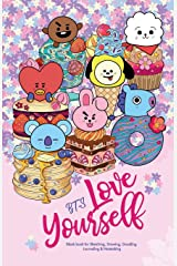 YES SKETCH, BTS Love Yourself: Blank Notebook for Sketching, Drawing, Doodling, Journaling and Notetaking, with 방탄소년단 BT21 cover for ARMY (Sketchbook, Band 9) Taschenbuch