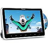 """10,1"""" Zoll Auto Monitor DVD Player HD Bildschirm mit KFZ Kopfstützenhalterung Slot-in Disc unterstützt SD USB AV IN und Out für Kinder Schwarz NAVISKAUTO MTK1030"""
