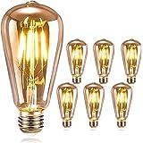 DASIAUTOEM Ampoule LED Edison, Ampoule E27 Vintage Edison LED Rétro Ampoule 4W ST64 Lampe Décorative Antique Nostalgiques Bla