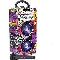 DYNASONIC (3a generazione)- Cassa Bluetooth portatile con Karaoke, 1 microfono inclusi, TWS, Radio FM, Lettore USB e SD…