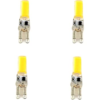 Lámpara Bombilla LED G9 LED COB 220V 4000 K luz día 5 W, Equivalentes a 25W Halogena (4-Unidades) (4000K) 46473