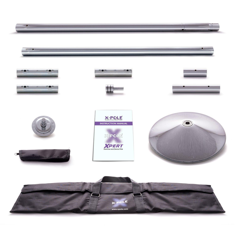 X-Pole XPert 45 mm Chrom Spinning Pole Dance Stange – Die Tanzstange der Profis – Inklusive PoleSports Mikrofasertuch