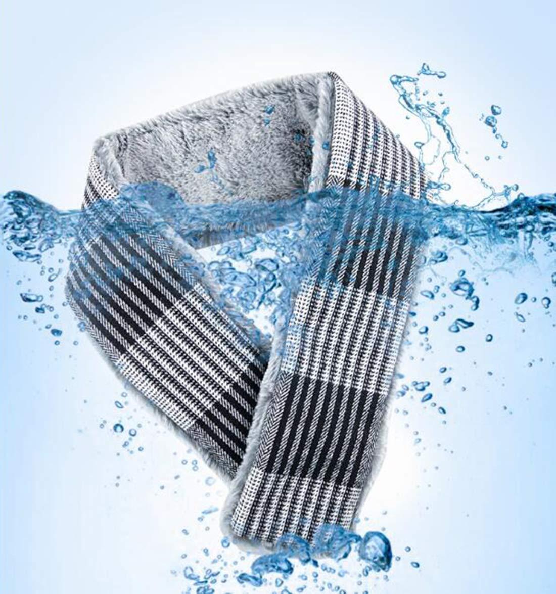 Unbne Climatizada Bufanda USB eléctrico calienta Caliente Cuello de la Bufanda del Abrigo de Invierno frío,Gris 5