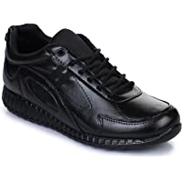 Liberty Force 10 Black Kids Non-Leather School Shoes