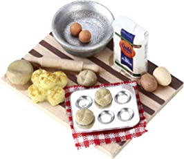 TOYMYTOY 1:12 Dollhouse Eggs Food Kitchen Miniature Milk Bread On Board Mini Furniture Model Pastry Station Toy Decor