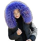 MoreChioce Elegante Collo di Pelliccia da Donna Sciarpa di Pelliccia Calda Invernale Colletto di Pelliccia Sintetica Soffice
