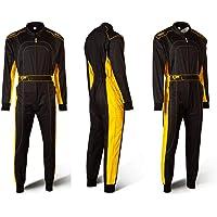 Speed Racewear - Tuta kart da corsa Nero e Giallo - Karting Suit - Tuta Stile Formula 1 (S)