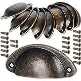10 stuks schelphandvat schuifladen grepen antiek vintage grepen brons kastgrepen antiek meubelgreep halve cirkel met schroeve