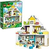 LEGO 10929 DUPLO Town Modulair Speelhuis 3-in-1 Set, Poppenhuis met Poppetjes en Dieren voor Kinderen van 2 Jaar en Ouder