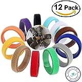 amoredipet Puppu ID Halsbänder–12Farben verstellbar Wurfbox Halsbänder, einfache Weg, um die Ihre Welpen