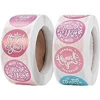1000Pcs Merci Stickers Autocollants d'Étiquette de Thank You Rouleau Rond Étiquettes Adhésives Papier d'emballage…