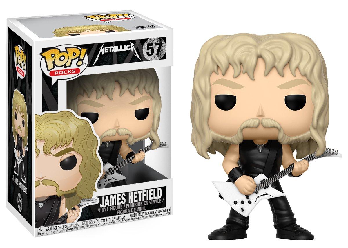 Funko Pop!- Música Figura James Hetfield, colección Metallica (13806) Funko Pop Cantantes y Músicos