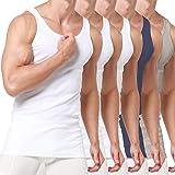 Camisetas de Tirantes para Hombre Pack de 3/5/6 de Algodón 100% Blanca