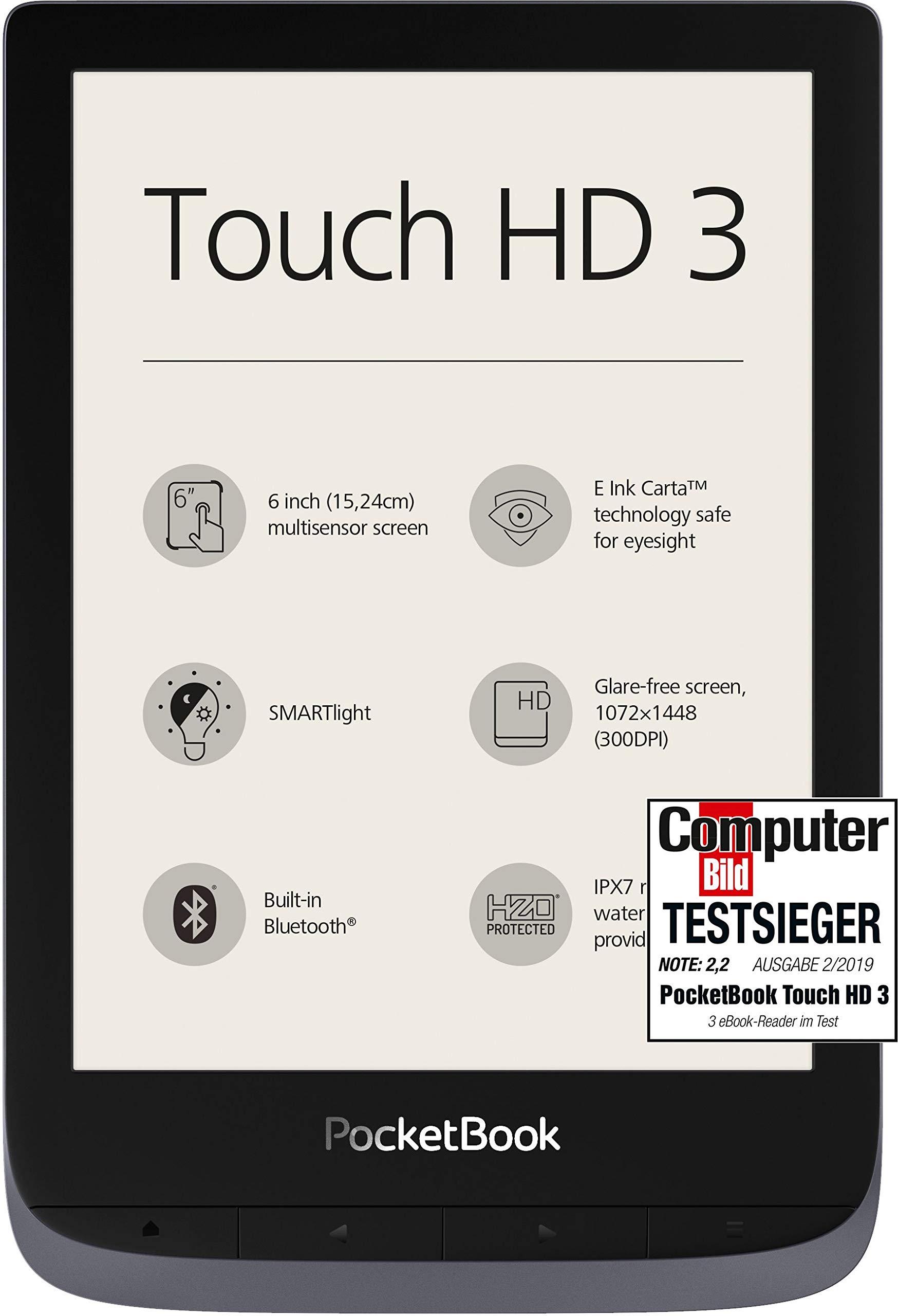 PocketBook e-Book Reader 'Touch HD 3' (16 GB Speicher; 15,24 cm (6 Zoll) E-Ink Carta Display; SMARTlight; Wi-Fi…