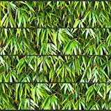 Sichtschutzstreifen zum Einflechten inkl. Klemmschienen Motiv Bambusblätter