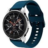 Syxinn Compatible avec 22mm Bracelet de Montre Galaxy Watch 46mm/Galaxy Watch 3 45mm Bande de Remplacement en Silicone pour G