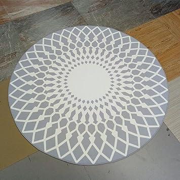 Runder teppich weiß  Amazon.de: Stylish Schwarz-Weiß-Runde Teppich Wohnzimmer ...