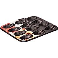 Ibili 820502 Plaque de 12 madeleines, Acier, Noir, 25,9 x 20,9 x 1,4 cm