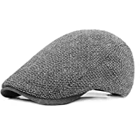 Vijamiy Berretti Uomo Stile Britannico 56-59 cm Lana Berretto Regolabile Plaid Classico Coppola Unisex Invernali Wool…