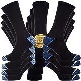 Kensington® Mens Black 90% Cotton Rich Multipack Happy Work Suit Socks for Cushioned Reinforced Calf Heel & Toe Anti-Sweat Co