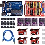 REES52 Professional 3D Printer CNC Kit with for Aduino, CNC Shield V3 w/Jumpers + 4Pcs RAMPS 1.4 Mechanical Switch Endstop &
