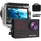 """Apexcam 4K Caméra Sport WiFi Ultra HD 20MP Caméra Etanche 2"""" LCD 40M sous-Marine 170 °Grand-Angle Action Cam avec Selfie Stic"""