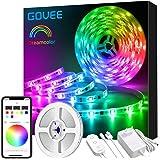 Govee Tira LED 5m RGBIC, Luces LED Habitacion Bluetooth Dreamcolor, Control de App y Caja de Control, Modo de Música y Escena